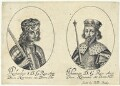 King Richard I ('the Lionheart'); King John (fictitious portraits), probably by William Faithorne, published by  Sir Robert Peake - NPG D22802
