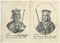 King Henry III; King Edward I (fictitious portraits), probably by William Faithorne, published by  Sir Robert Peake - NPG D22803