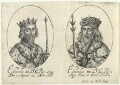 King Edward II; King Edward III (fictitious portraits), probably by William Faithorne, published by  Sir Robert Peake - NPG D22804