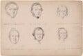 W.W. Ellwood; Alexander Gray; Miss Maynard; possibly Saunders Alex Smith; possibly Peart Robinson; Miss Boston, attributed to William Egley - NPG D23313(3)