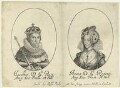 King James I of England and VI of Scotland; Anne of Denmark, probably by William Faithorne, published by  Sir Robert Peake - NPG D22815