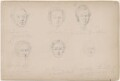 G.S. Archer and five unknown sitters, attributed to William Egley - NPG D23313(14)