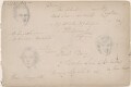 Sketchbook notes with three unknown sitters, attributed to William Egley - NPG D23313(22)