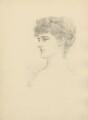 Hermione Wilhelmina Fitzgerald (née Duncombe), Duchess of Leinster, after (Marion Margaret) Violet Manners (née Lindsay), Duchess of Rutland - NPG D23365