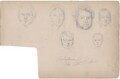 Mr Kellman and five unknown sitters, attributed to William Egley - NPG D23313(31)