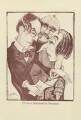 Mr John Drinkwater Reading' (John Drinkwater; possibly Rudyard Kipling; Edith Sitwell), by Mark Wayner (Weiner) - NPG D23328