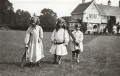 Julian Vinogradoff (née Morrell); Catherine Emma Eastwood (née Peel); John Frederic Roger Peel, by Lady Ottoline Morrell - NPG x144214