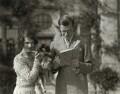 Julian Vinogradoff (née Morrell) with 'Pung'; Igor Vinogradoff, by Lady Ottoline Morrell - NPG x144215