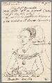 Elizabeth Woodville, by William Derby, after  Unknown artist - NPG D23062a