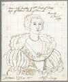 Anne Ker (née Stanley), Countess of Ancram, by Alfred Thomas Derby, after  Gerrit van Honthorst - NPG D23091