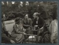 John Hayward; Dorothy Bussy (née Strachey); Simon Bussy and an unknown man, by Lady Ottoline Morrell - NPG Ax143946