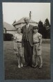 Bertrand Russell, 3rd Earl Russell with his children, by Lady Ottoline Morrell - NPG Ax143955