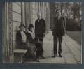 Constance Evelyn Wyndham (née Primrose), Lady Leconfield; Lady Ottoline Morrell; Philip Edward Morrell; Aldous Huxley, by Unknown photographer - NPG Ax143975
