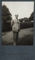'W.B. Yeats in his garden in Ireland', by Lady Ottoline Morrell - NPG Ax144062