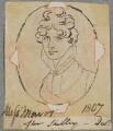 Miss Mavor, by Henry Bone, after  Samuel Shelley - NPG D17349
