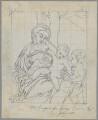 Madonna and Child with an Angel, by Henry Bone, probably after  Antonio Allegri da Correggio - NPG D17433