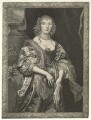 Anne Russell (née Carr), Countess of Bedford, by Pierre Lombart, after  Sir Anthony van Dyck - NPG D23459