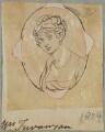Mrs Trevanyan, by Henry Bone, after  Unknown artist - NPG D17610