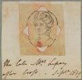 Anne Lefroy (née Brydges), by Henry Bone, after  Richard Crosse - NPG D17639