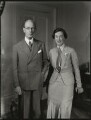 Robert Munro, 1st Baron Alness; Olga Marie Munro (née Grumler), Lady Alness, by Bassano Ltd - NPG x151131