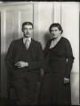 Lucien Leslie Falkiner; Hon. Lucy Agnes Vera Falkiner (née Verney-Cave), by Bassano Ltd - NPG x151273