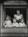 Hon. Youla Edithe Harris (née Littleton, later Wellsley) and her children, by Bassano Ltd - NPG x151282