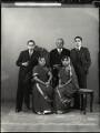 Sir Manubhai Nandshankar Mehta and family, by Bassano Ltd - NPG x151293