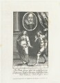 William Shakespeare with Lucretia and Collatinus, by Richard Sawyer, after  William Faithorne - NPG D22940