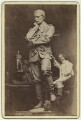 Hamo Thornycroft with his statue of Charles George Gordon, by F.W. Edwards - NPG x12593