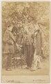 William Bell Scott; Dante Gabriel Rossetti; John Ruskin, by W. & D. Downey - NPG x12959