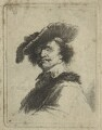 Unknown man, by Thomas Worlidge, probably after  Rembrandt - NPG D23533