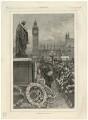 'Primrose Day' (Benjamin Disraeli, Earl of Beaconsfield), by W. Saull - NPG D21540