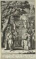 Ethelbert, King of Wessex and Kent, King of Wessex and Kent; St Augustine; St Lucius; Elvanus; Medvinus; St Alban, by John Sturt, after  Bernard Lens (II) - NPG D23599