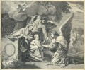 The Rest in Egypt, by William Faithorne, after  Simon Vouet - NPG D23007