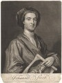 John Smith holding print by John Smith of Sir Godfrey Kneller, Bt, by John Smith, after  Sir Godfrey Kneller, Bt - NPG D9001