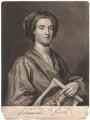 John Smith holding print by John Smith of Sir Godfrey Kneller, Bt, by John Smith, after  Sir Godfrey Kneller, Bt - NPG D9001