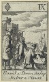'Fenwick at Dover, sending Students to St Omers' (John Caldwell (John Fenwick)), after Francis Barlow - NPG D23011(e)