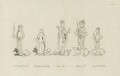 King Richard III, Queen Anne, Edward, Prince of Wales, Margaret, Countess of Salisbury and Edward, Earl of Warwick, after Unknown artist - NPG D23814