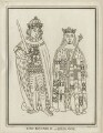 King Richard III and Anne Neville, Queen of England, by Grignion, after  George Vertue - NPG D23817