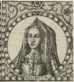 Elizabeth of York, by Jodocus Hondius - NPG D23859