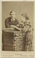 William Hunter Kendal (William Hunter Grimston); Madge Kendal, by Hills & Saunders - NPG x19112