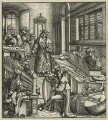 The Emperor Maximilian studying the Science of Music, by Hans Burgkmair - NPG D24117