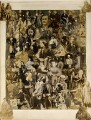 Collage of 101 figures, compiled by Cecilia Mary Jocelyn (née Elliot), after  Disdéri, after  John Jabez Edwin Mayall, after  Camille Silvy, and after  Unknown photographers - NPG Ax129160