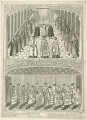 Two scenes depicting the State Opening of Parliament in the Reign of Henry VIII (fictional), by Joseph Sympson (Simpson) - NPG D24169