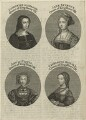 Louise of Savoy, formerly known as Katherine of Aragon; Jane Seymour; Anne of Cleves; Catherine Howard, by John June - NPG D24172