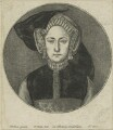Queen Mary I when Princess Mary, by Wenceslaus Hollar, after  Hans Holbein the Younger - NPG D24193