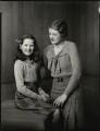 Elizabeth Valerie Cross (née Eaton); Sheila Marguerite Eaton (née Dumbleton), by Bassano Ltd - NPG x151563