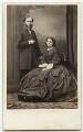 Sir Wyke Bayliss; Elizabeth Letitia (née Broade), Lady Bayliss, by Antoine Claudet - NPG x75775
