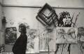 Elisabeth Frink, by Bob Willoughby - NPG x18515
