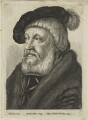 Probably Sir William Butts, by Wenceslaus Hollar, published by  Adam Alexius Bierling, after  Hans Holbein the Younger - NPG D24334